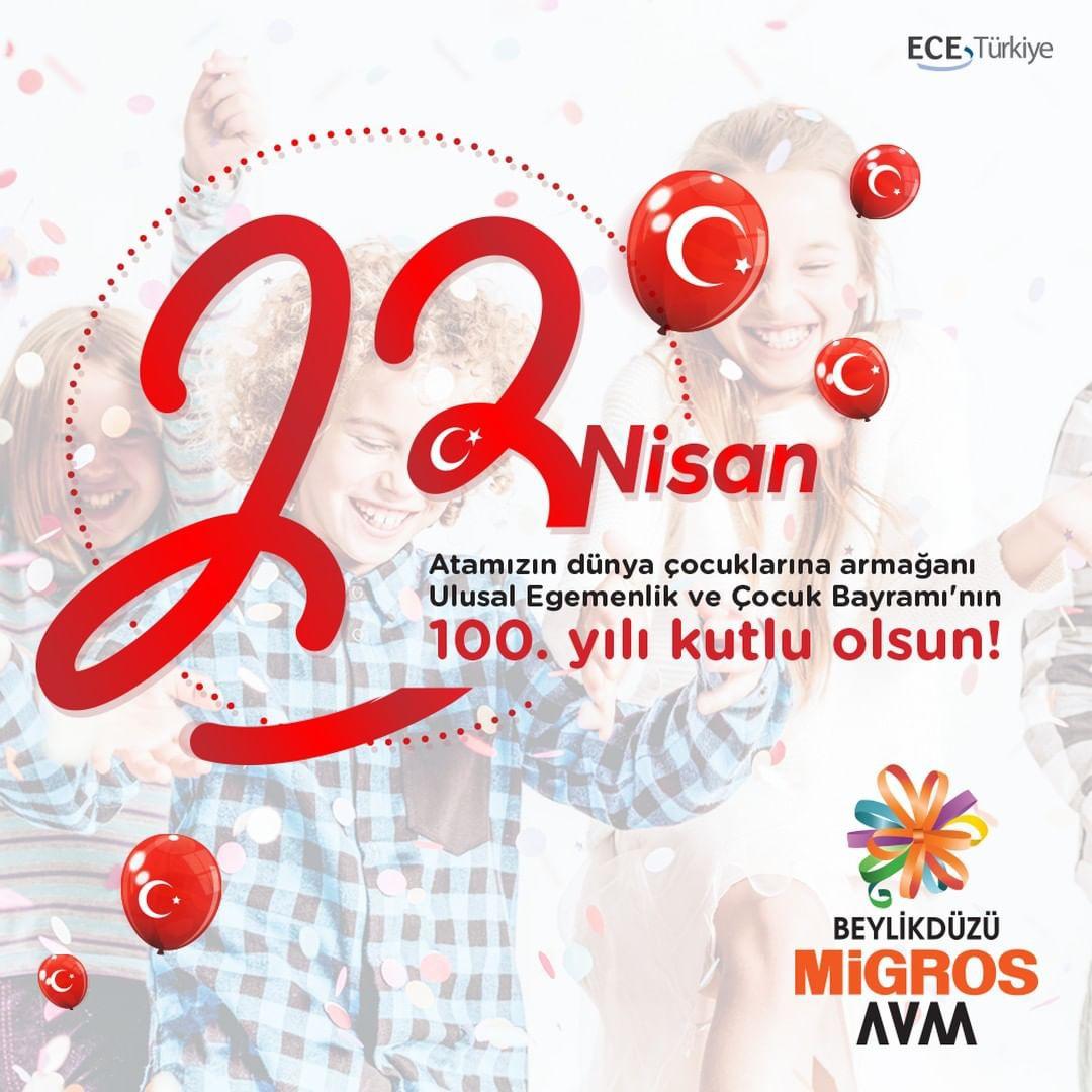 Atamızın, dünya çocuklarına armağanı Ulusal Egemenlik ve Çocuk Bayramı'nın 100. yılı kutlu olsun!