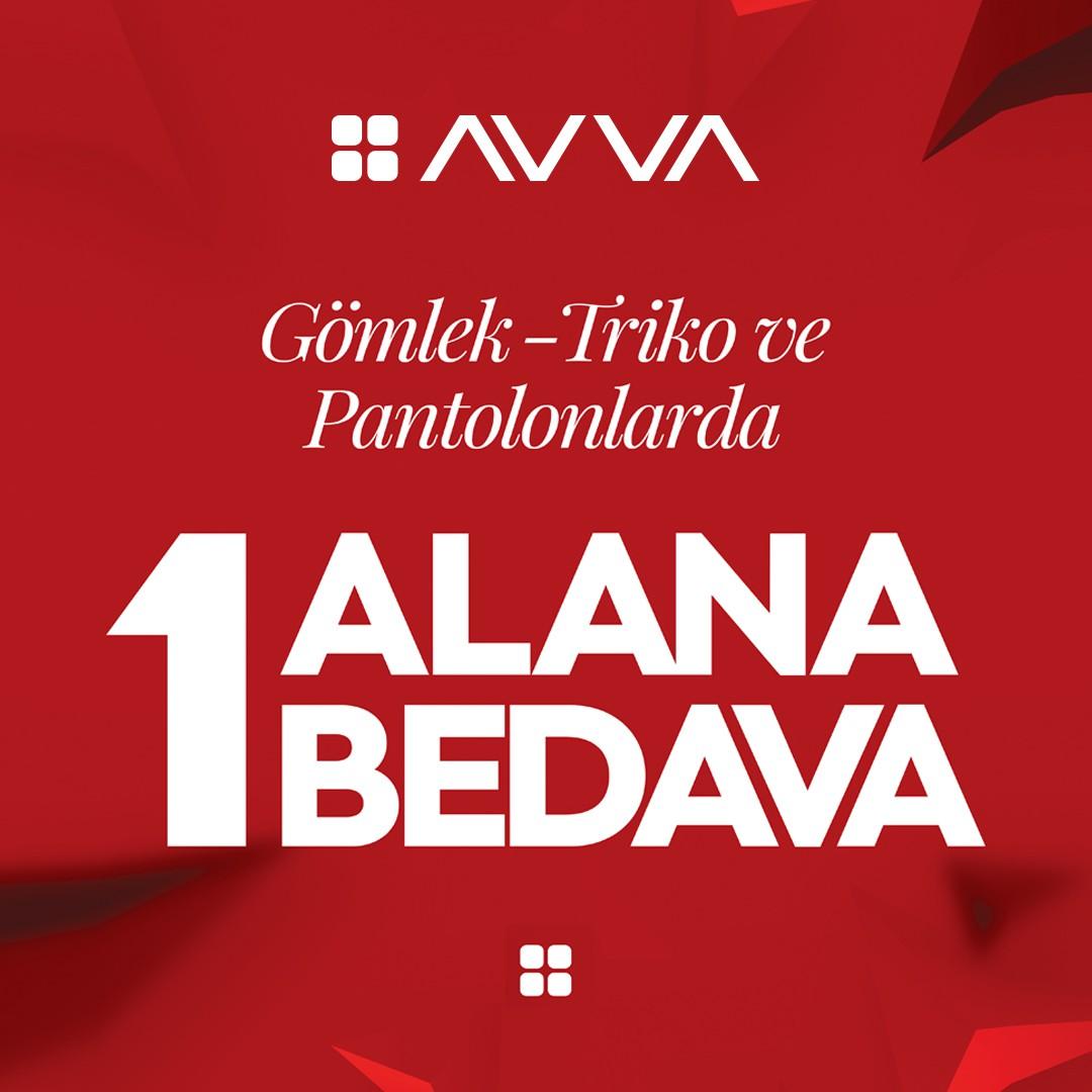 AVVA'da gömlek, triko ve pantolonlarda 1 alana 1 bedava kampanyası sizleri bekliyor!