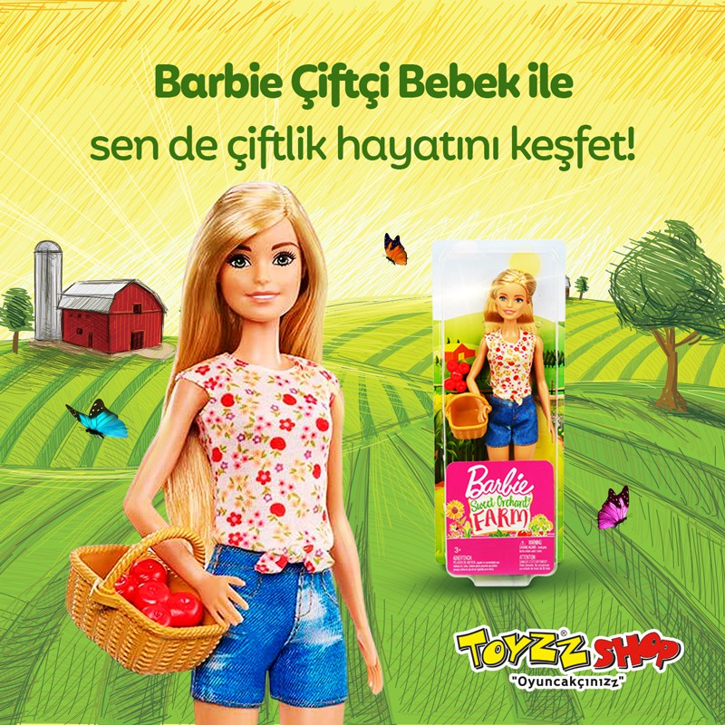 Barbie çiftçi bebek ile sen de çiftlik hayatını keşfet!