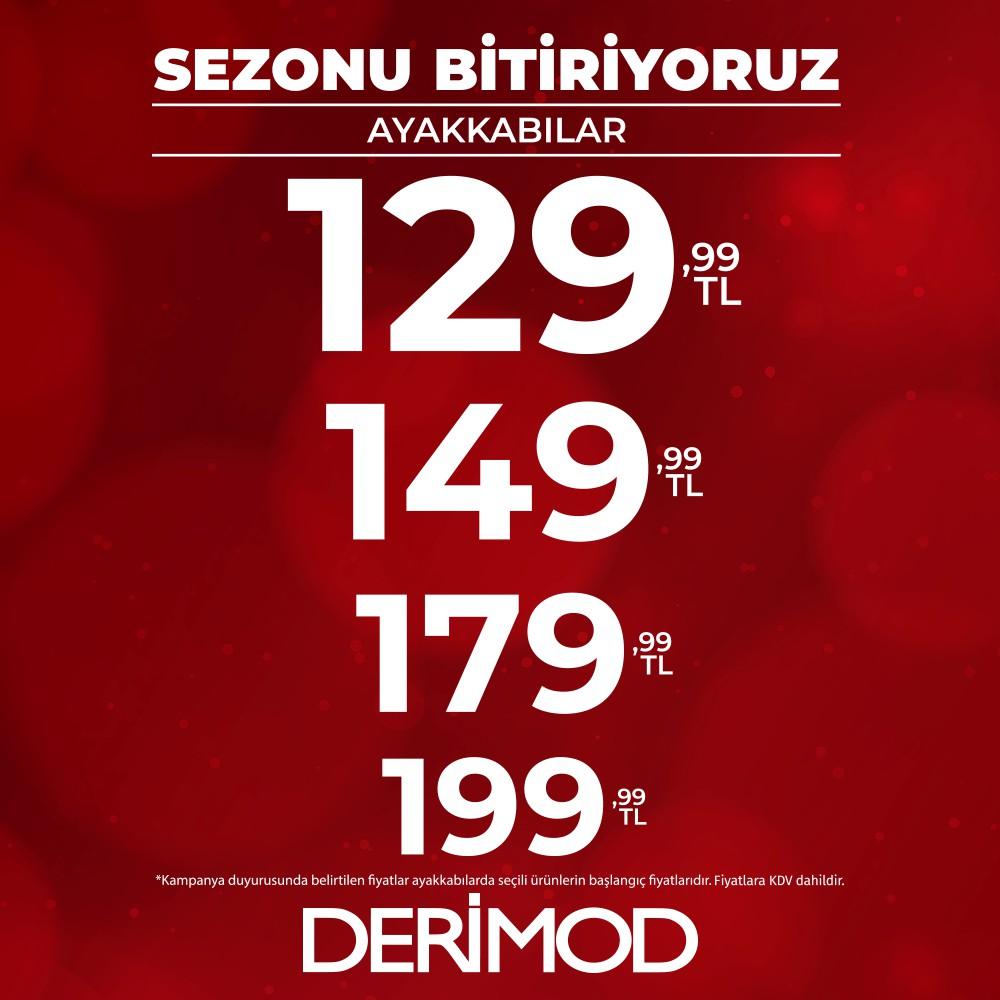 DERİMOD'da çok avantajlı fiyatlarla sezon sonu fırsatlarını kaçırmayın!