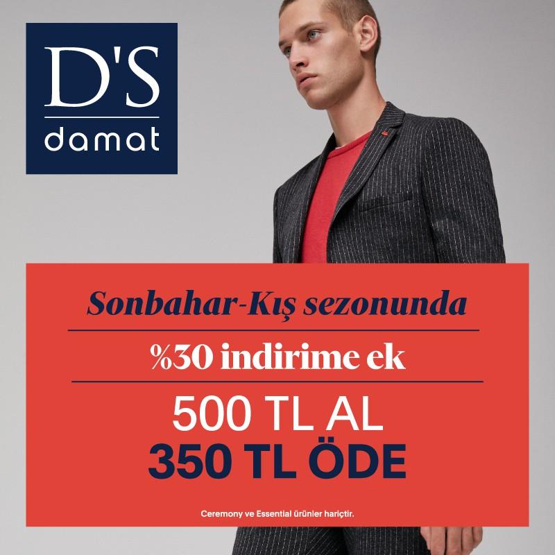 D'S Damat'ta sonbahar-kış sezonu fırsatları sizi bekliyor! Kaçırmayın!