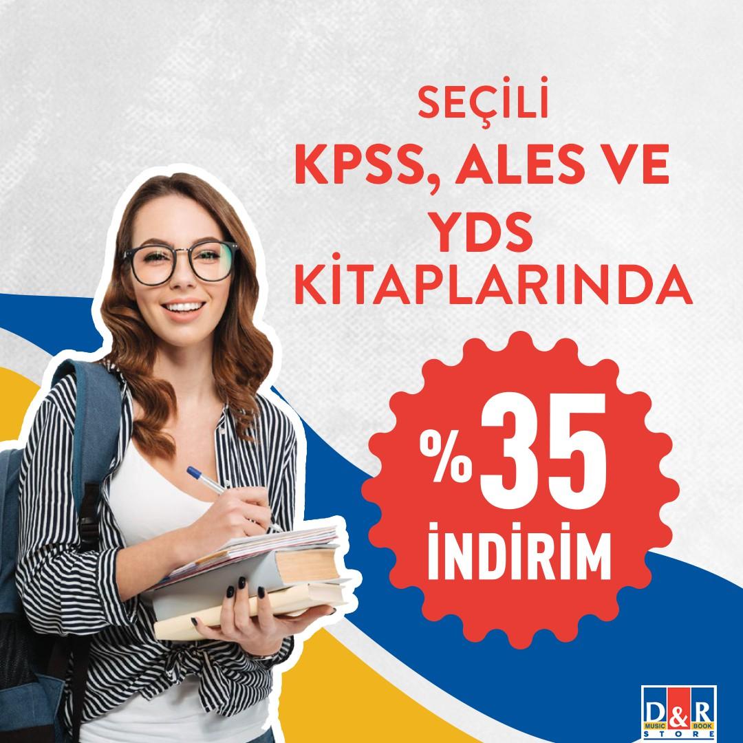 Eğitim kitapları için doğru yerdesiniz! Seçili KPSS, ALES ve YDS kitaplarında %35 indirim D&R mağazalarında!