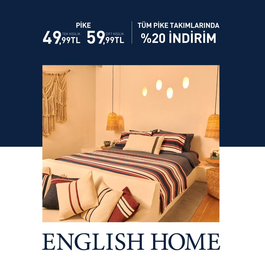 English Home Tüm Pike Takımlarında %20 İndirim