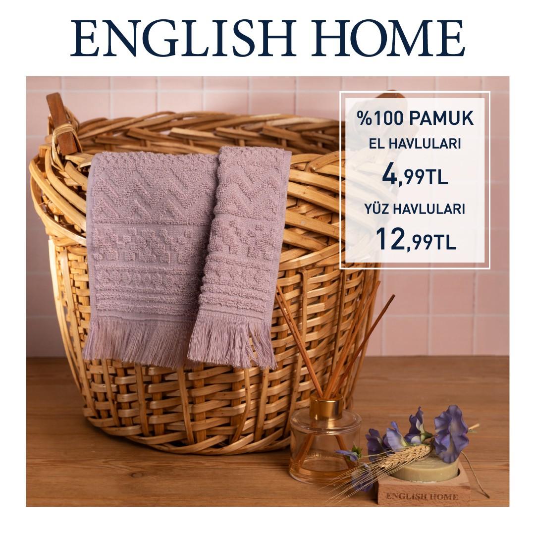 ENGLISH HOME'da %100 pamuk havlulardaki büyük indirim sizleri bekliyor!