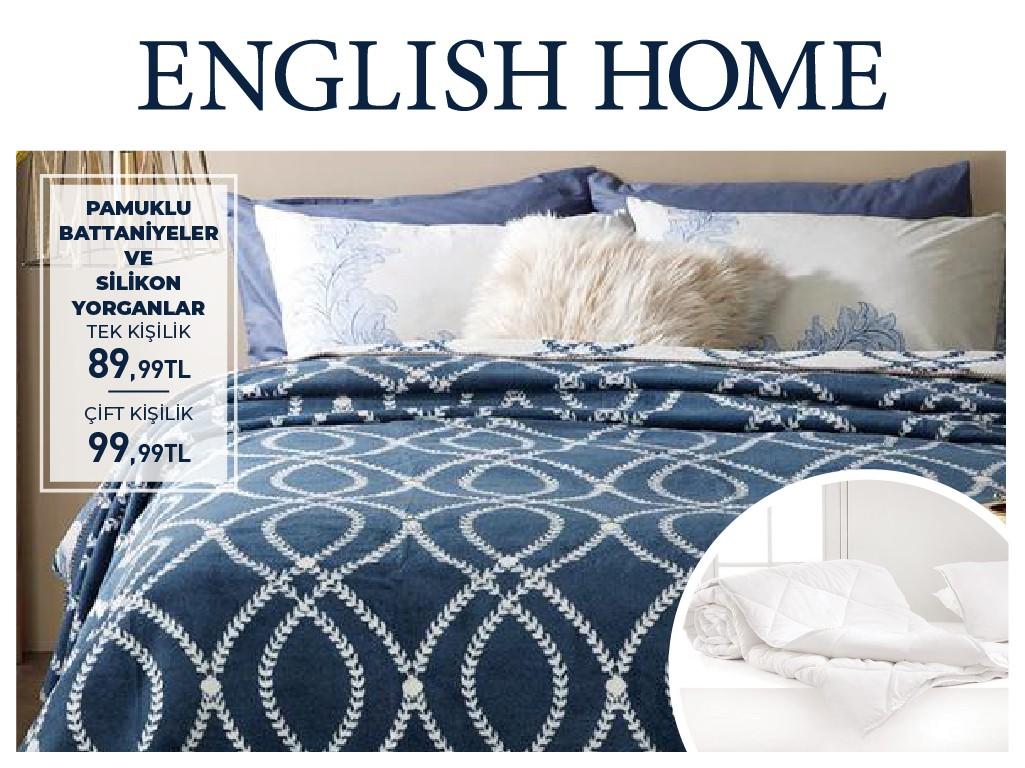 English Home'da pamuklu battaniyelerde ve silikon yorganlardaki avantajlı fiyatlara göz atmayı unutmayın!