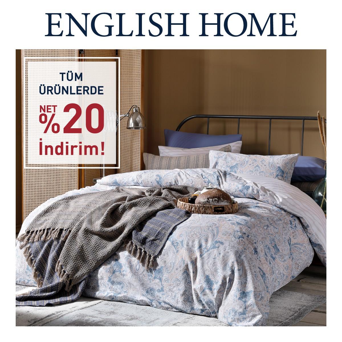 English Home'de tüm ürünlerde %20 indirim fırsatı başladı! Kaçırmayın!