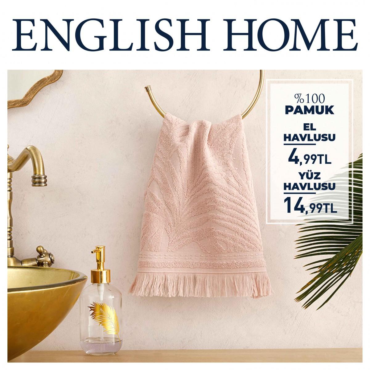 ENGLISH HOME'un %100 pamuk havlularıyla cildinize iyi bakın!