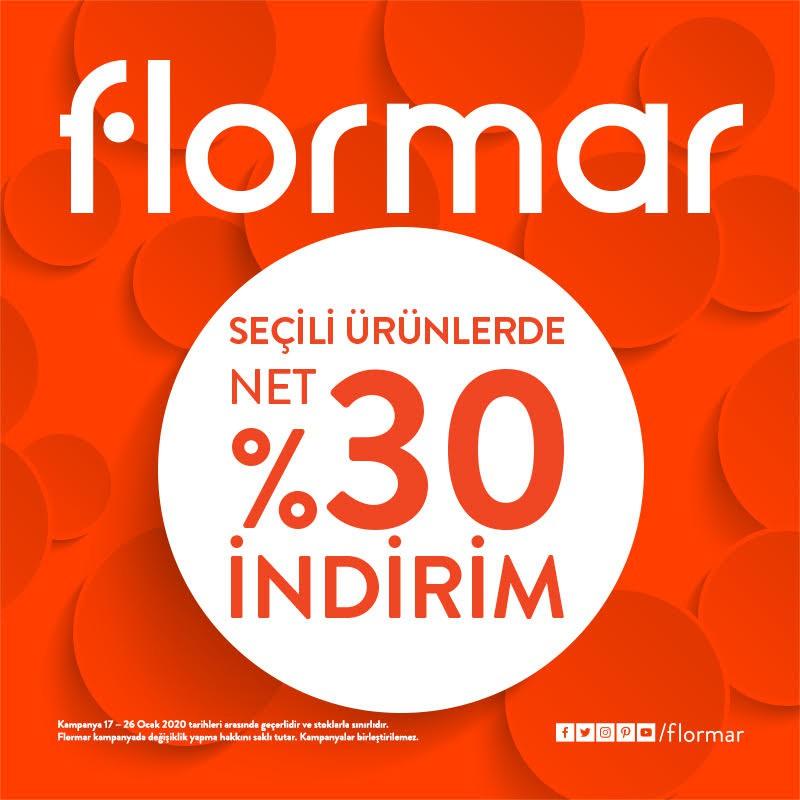 FLORMAR'daki 17-26 Ocak arası seçili ürünlerde net %30 indirim fırsatını kaçırmayın! #bmigrosavm #flormar