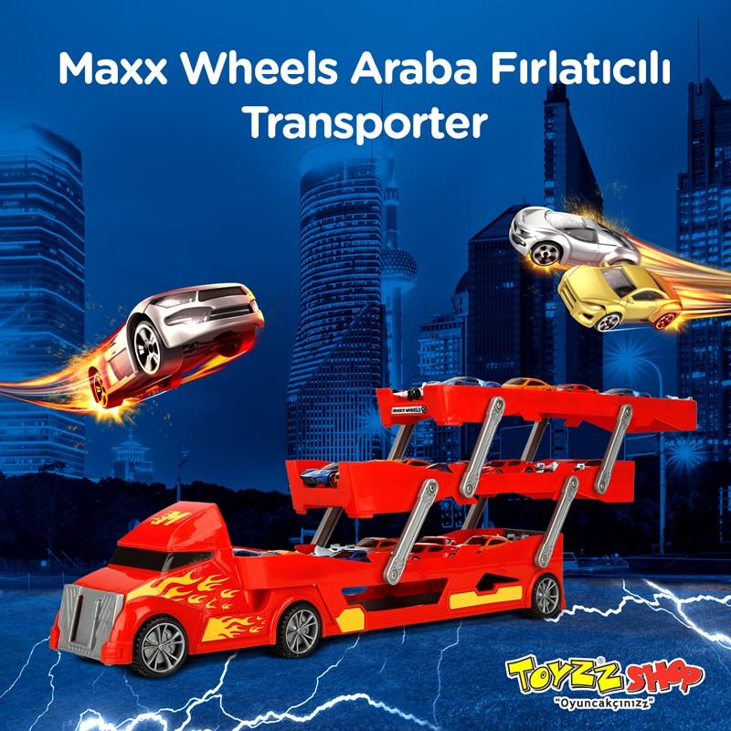 """Harika özellikleri sayesinde """"Maxx Wheels Araba Fırlatıcılı 3 Katlı Transporter Tır"""" ile eşsiz bir macera. Tüm arabaları bir araya topla! Kimin daha hızlı olduğunu herkese göster."""