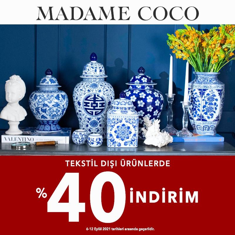 Madame Coco Tekstil Dışı Ürünlerde %40 İndirim