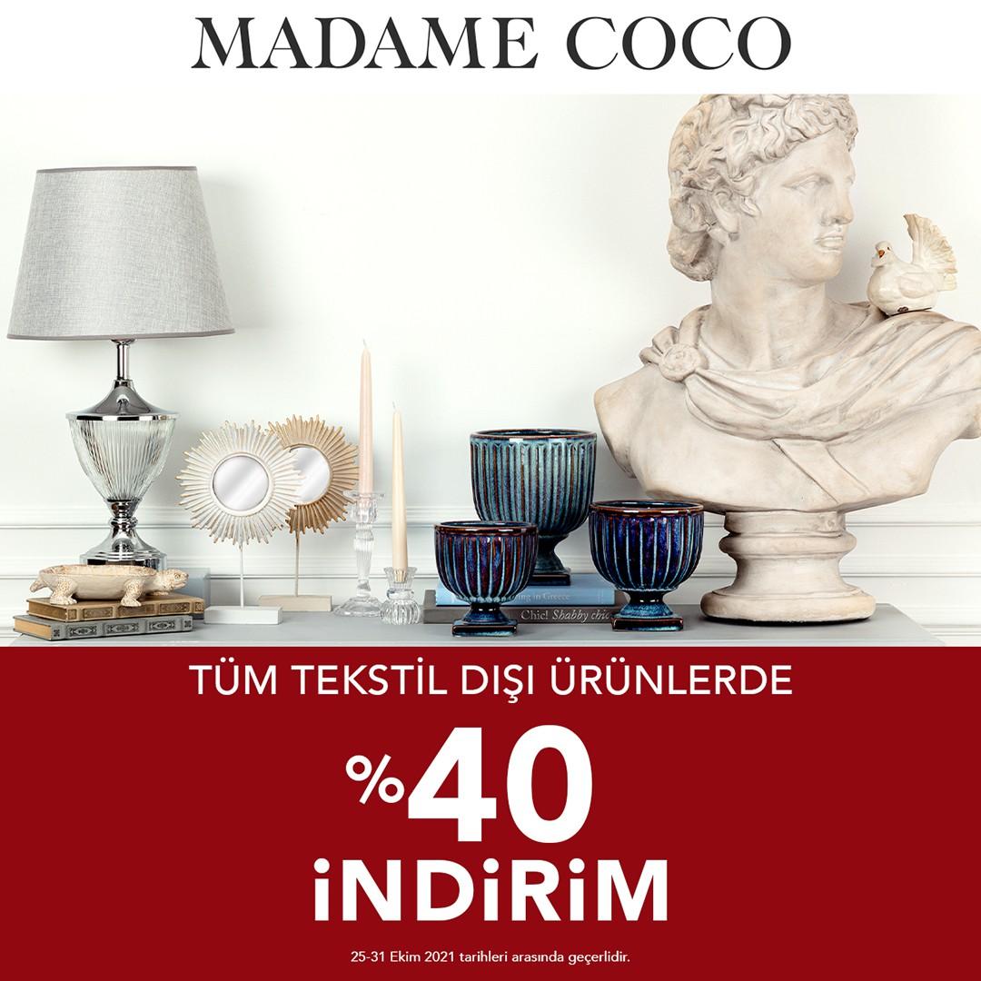 Madame Coco Tüm Tekstil Dışı Ürünlerde %40 İndirim