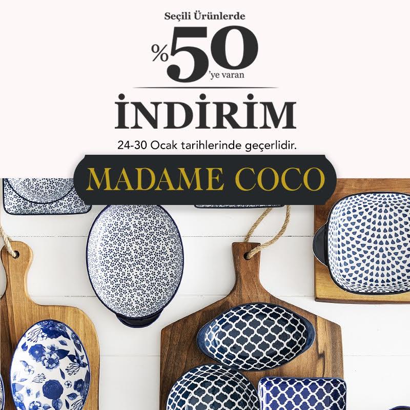 MADAME COCO'da 24-30 Ocak tarihlerinde seçili ürünlerde %50'ye varan indirimleri kaçırmayın!