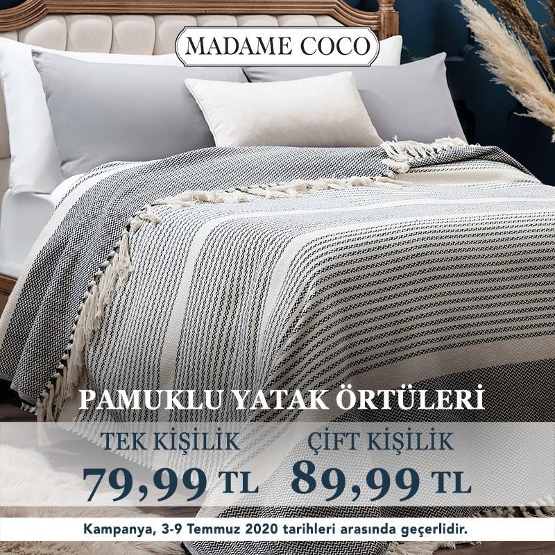 Madame Coco'da pamuklu yatak örtülerindeki indirimleri kaçırmayın!
