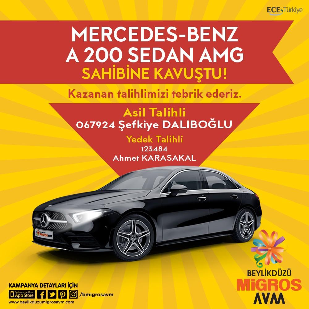 Mercedes-Benz A 200 Sedan AMG noter huzurunda yapılan çekilişle sahibine kavuştu! Kazanan talihlimizi tebrik ederiz!