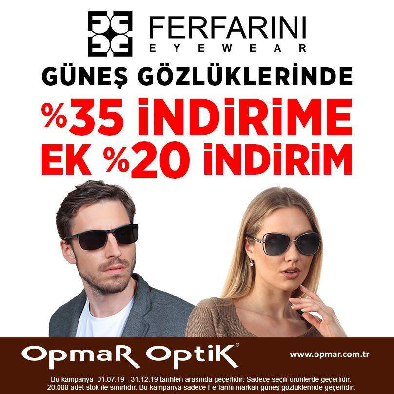 Opmar Optik'te Ferfarini güneş gözlüklerindeki indirimleri kaçırmayın!