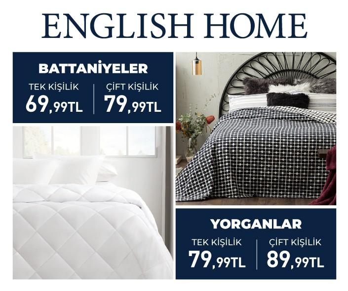 Soğuk bir kış gününde, sıcak bir battaniye ve yorganın sağladığı konfor çok değerli . Şimdi English Home'da konforlu ve rahat uykular sizi bekliyor.