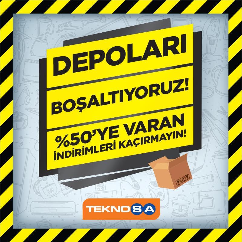 TEKNOSA depoları boşaltıyor! %50'ye varan indirimleri kaçırmayın!   #bmigrosavm #teknosa