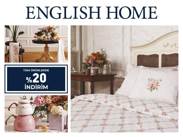 Tüm ürünlerde %20 indirim fırsatı English Home'da sizleri bekliyor!