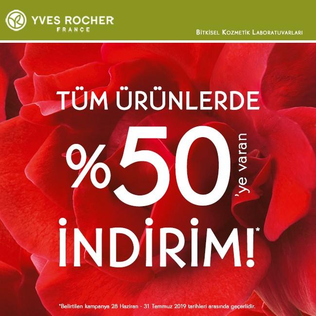 Tüm ürünlerde %50'e varan indirim Yves Rocher'de!