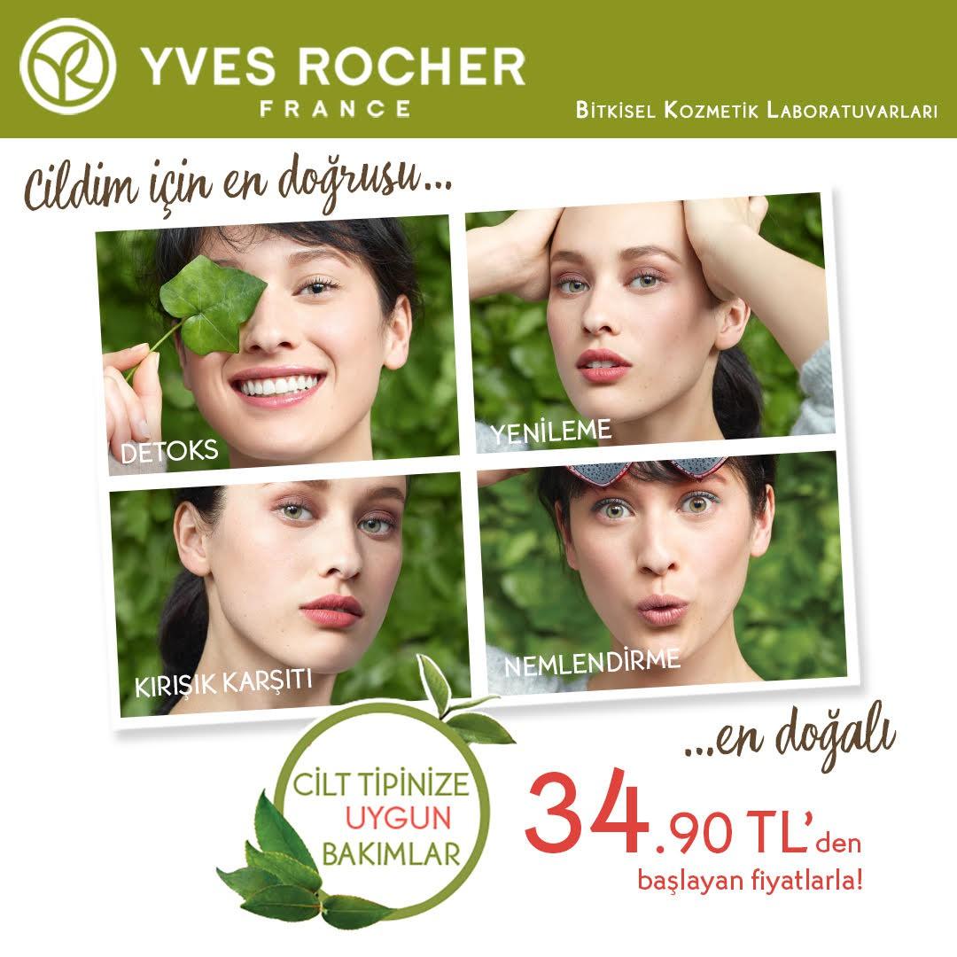 Yves Rocher'de Cilt Bakım Günleri başladı!