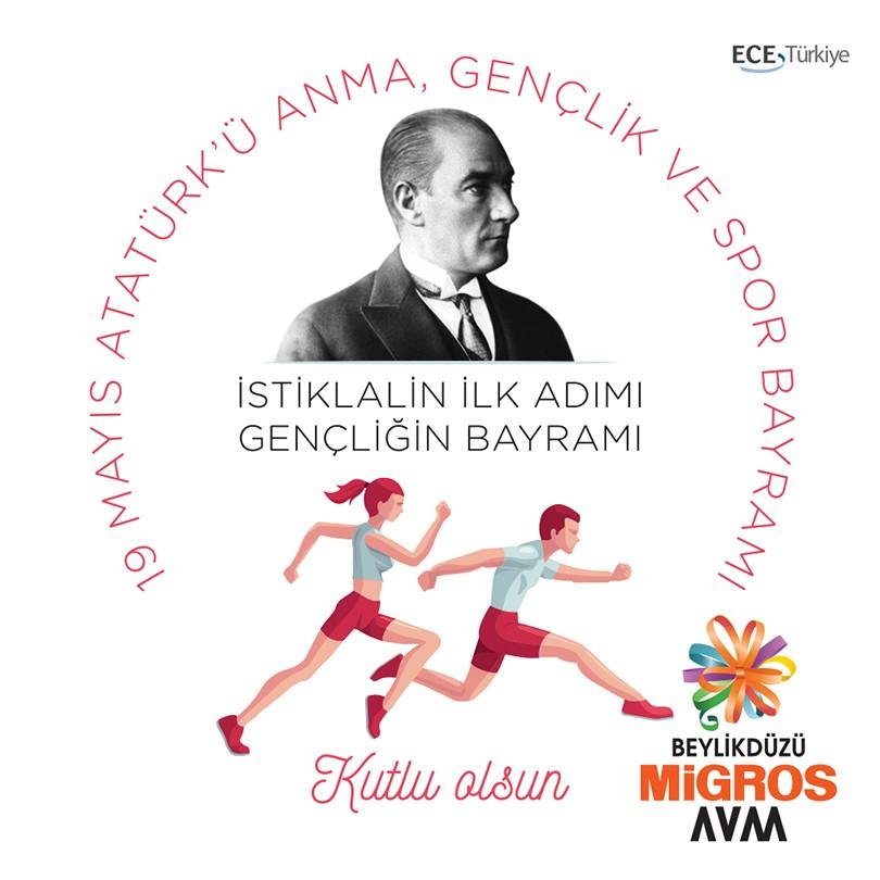İstiklalin ilk adımı, gençliğin bayramı olan 19 Mayıs Atatürk'ü Anma, Gençlik ve Spor Bayramı kutlu olsun.